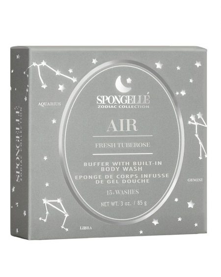Spongelle Body Wash Infused Sponge – Zodiac, Air – Fresh Tuberose