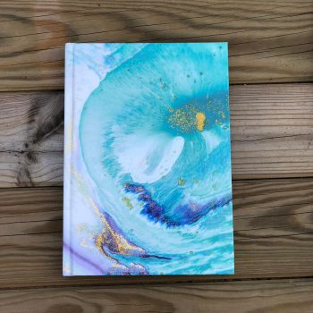 Teal blue Marble Notebook
