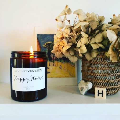 happy home candle by sevenseventeen