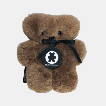 Baby Sheepskin Flat Out Bear – Chocolate