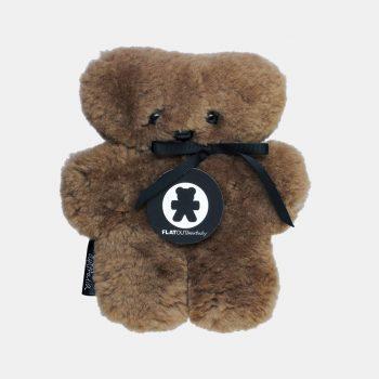 Baby Sheepskin Flat Out Bear – Chocolate
