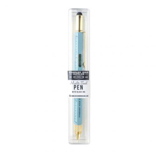 blue multi tool pen