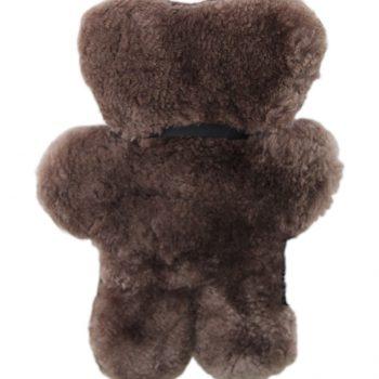 100% Sheepskin Flat Teddy Bear – Chocolate