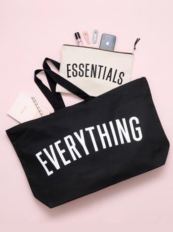 black everything bag, really big
