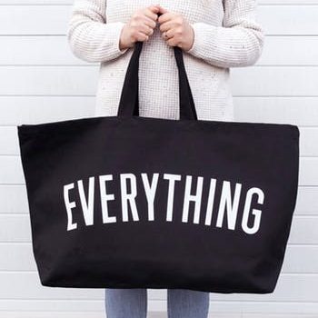 Really Big EVERYTHING canvas bag – Black