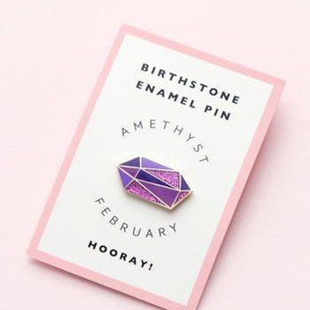 February Birthstone pin – Amethyst