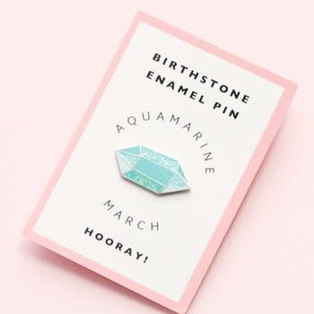 March Birthstone pin – Aquamarine