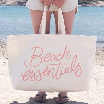Beach Essentials Really Big Canvas Bag