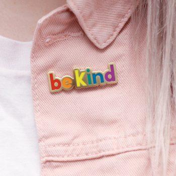 be kind rainbow pin