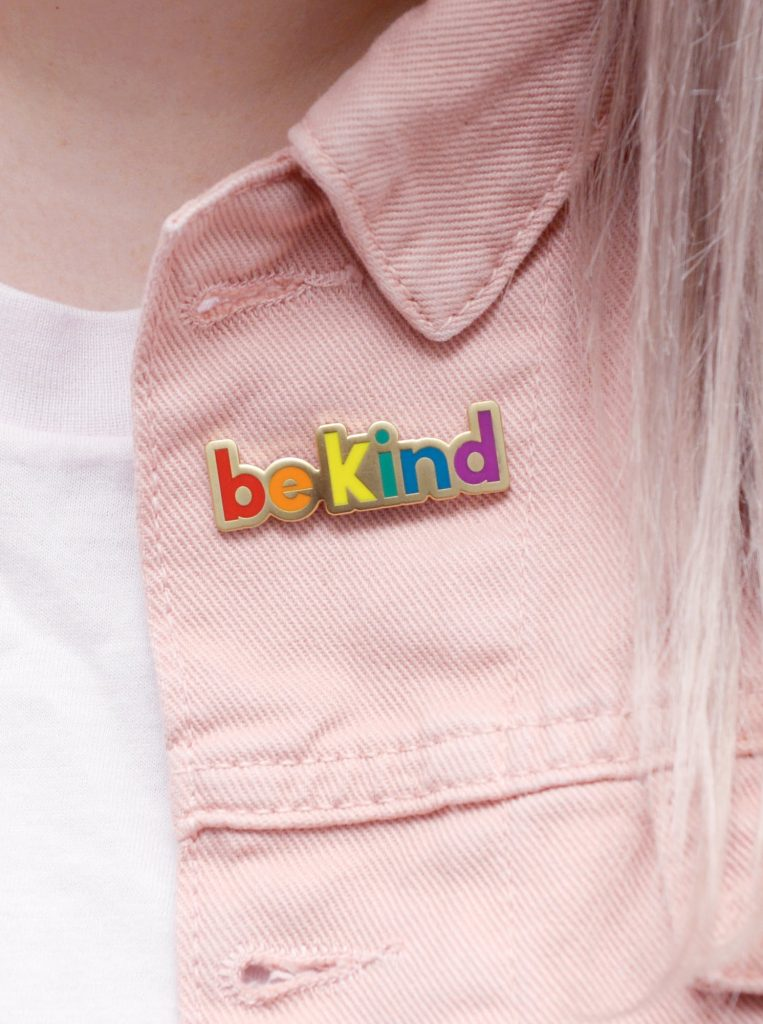 be kind rainbow pin