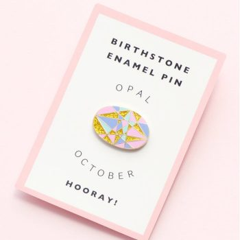 October Birthstone Pin – Opal