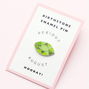 August Birthstone Pin – Peridot