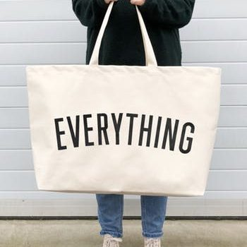 Really Big EVERYTHING canvas bag – White