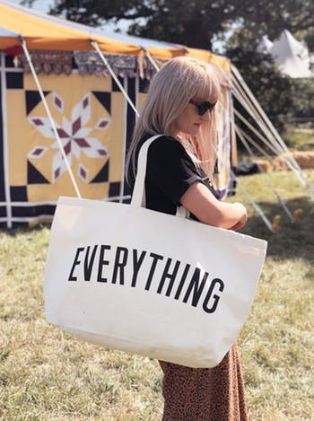 really big EVERYTHING canvas bag
