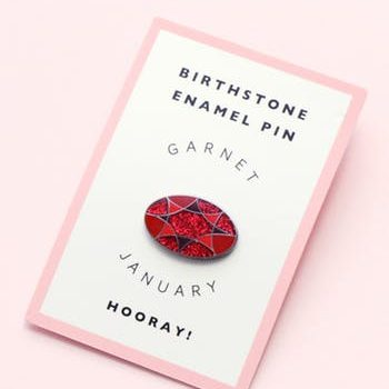 January Birthstone Pin – Garnet