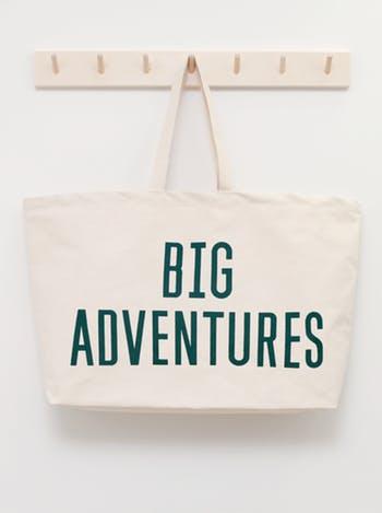really big, big adventures canvas bag