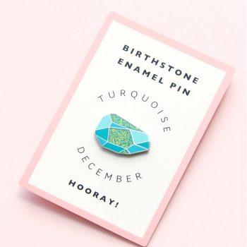 December Birthstone Pin – Turquoise