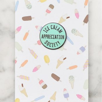 Enamel Pin , Ice Cream Appreciation Society