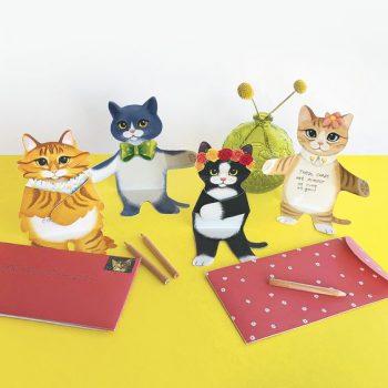 Notecards: Set of 12 Kitten Cuddles notecards