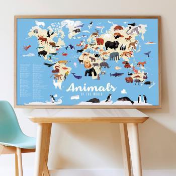 Poppik Sticker Poster – Animals of the World Screen Free Activity