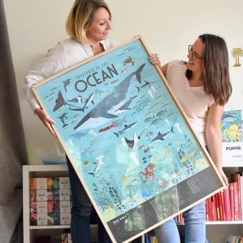 Poppik Sticker Poster – Ocean Animals – Screen Free Activity