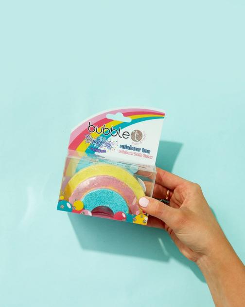 cruelty free rainbow bath bomb