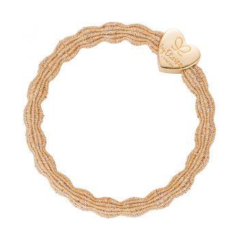 bangle band hair tie gold