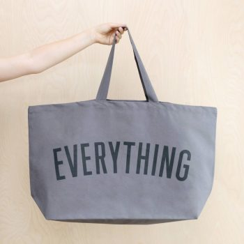 Really Big EVERYTHING canvas bag – Grey