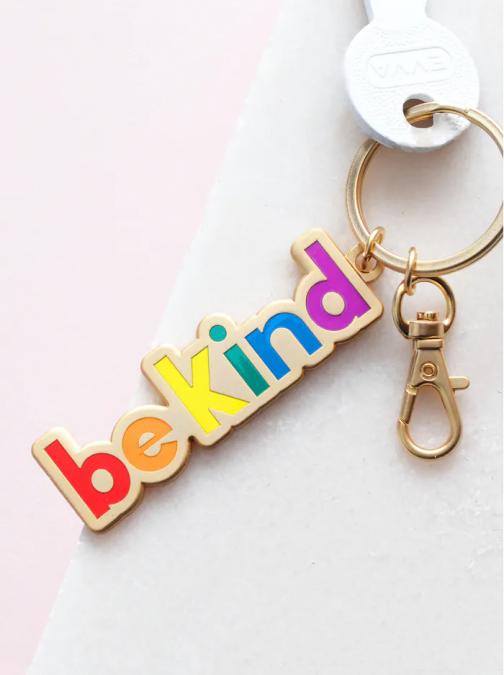 be kind rainbow keyring