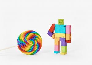 medium rainbow cubebot rainbow robot