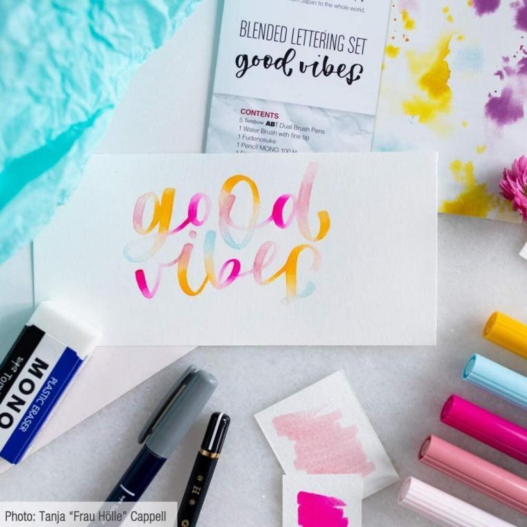 good vibes brushed lettering starter set