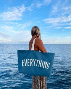 Everything Ocean Blue Canvas bag